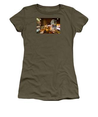 Downtown In The Itty-bitty City Women's T-Shirt