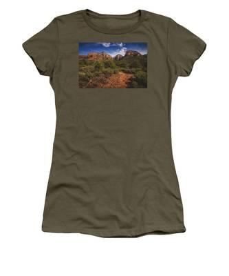 Dramatic Cloudscape Over Capitol Butte Women's T-Shirt