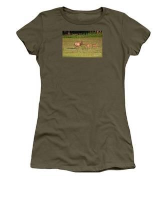 Elk Kisses Women's T-Shirt by Jemmy Archer