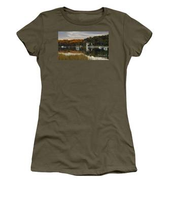 Fall Sunset In Centerport  Women's T-Shirt