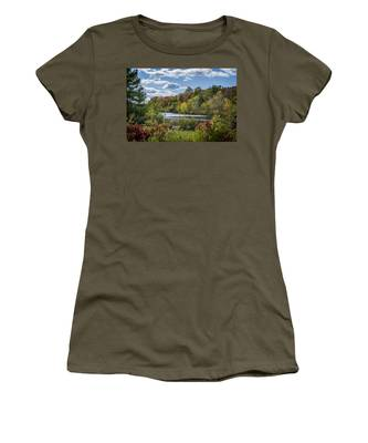 Fall Time On The Lake Women's T-Shirt
