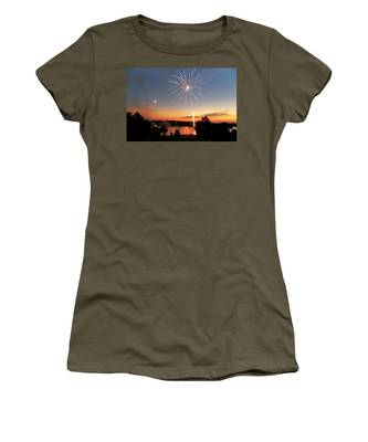 Fireworks And Sunset Women's T-Shirt