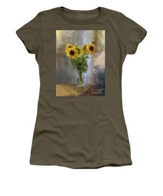 Five Sunflowers Centered Women's T-Shirt