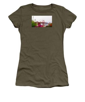 Golden Gate Bridge Flowers 2 Women's T-Shirt