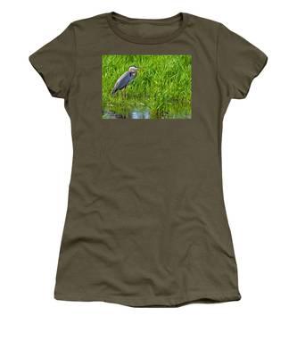 Great Blue Heron Waiting Women's T-Shirt