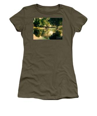 Heckscher Park Pond, Huntington Ny Women's T-Shirt