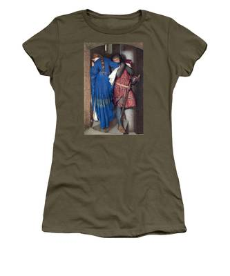 Hellelil And Hildebrand Or The Meeting On The Turret Stairs Women's T-Shirt