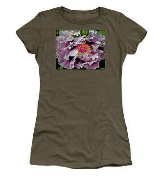 Women's T-Shirt featuring the photograph In The Eye Of The Peony by Chris Lord
