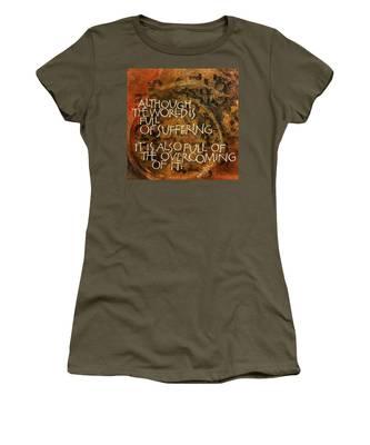 Inspirational Saying Overcome Women's T-Shirt