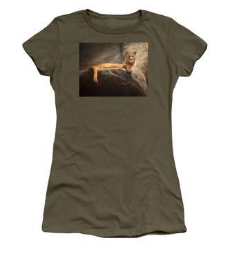 Laying Cougar Women's T-Shirt