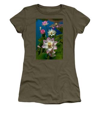 Women's T-Shirt featuring the photograph Lotus Pool by Chris Lord