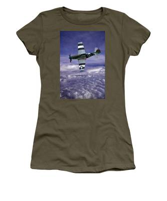 Women's T-Shirt featuring the photograph Mustang On Patrol by Chris Lord