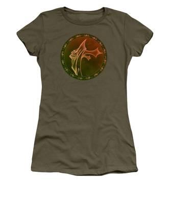 Women's T-Shirt featuring the digital art Oceanus Greek God  by Robert G Kernodle