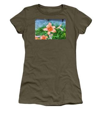 Orange Daylily Women's T-Shirt