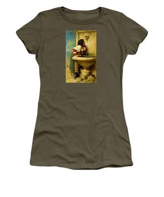 Roman Girl At A Fountain Women's T-Shirt