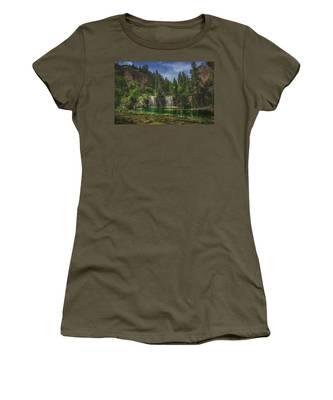 Serene Hanging Lake Waterfalls Women's T-Shirt