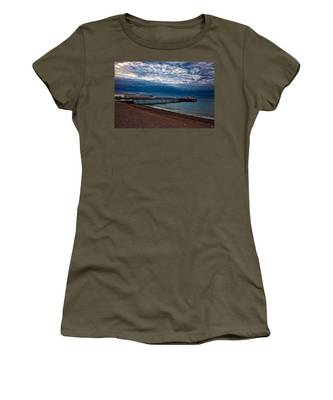 Women's T-Shirt featuring the photograph Seven Am On Brighton Seafront by Chris Lord