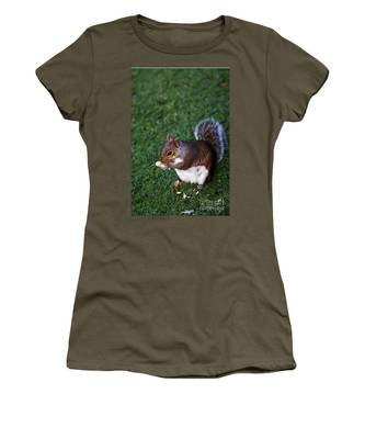 Squirrel Eating Women's T-Shirt