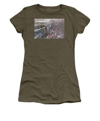 Stone Wall At Jackson Lock Women's T-Shirt