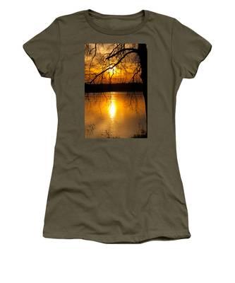 Sunset Over The Lake Women's T-Shirt