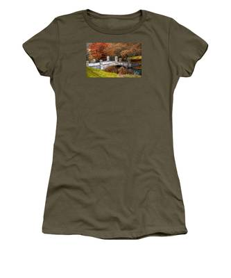 The Bridge To Autumn By Mike Hope Women's T-Shirt