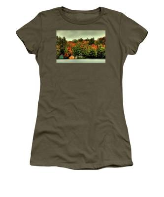 The Pond In Old Forge Women's T-Shirt