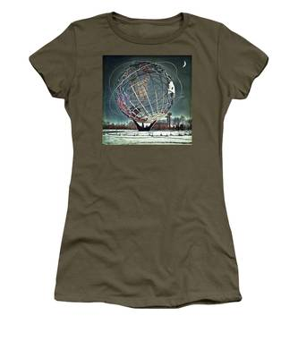 Women's T-Shirt featuring the photograph Unisphere by Chris Lord