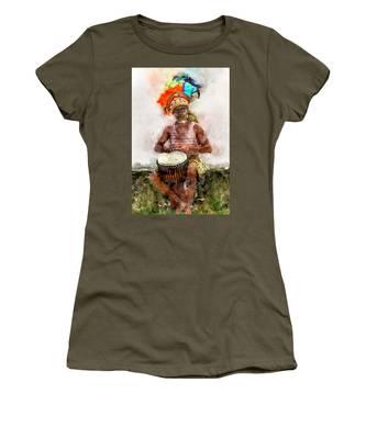 Antiguan Drummer Women's T-Shirt