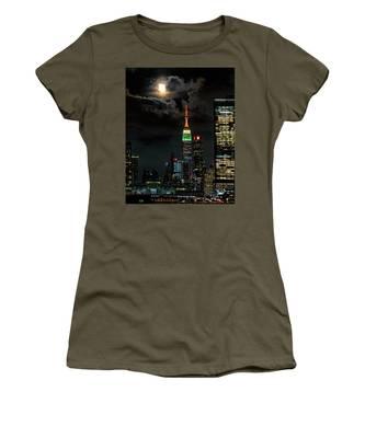 Cloudy Sturgeon Full Moon Women's T-Shirt by Chris Lord