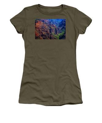 Colorful Mountains Of Kauai Women's T-Shirt