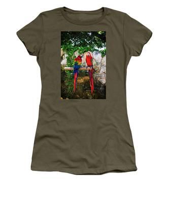 Colorful Parrots Women's T-Shirt