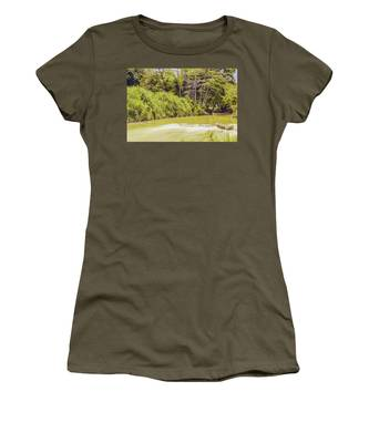 Country River In Trelawny Jamaica Women's T-Shirt