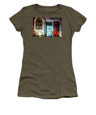 Doors Of India - Blue Door And Red Door Women's T-Shirt