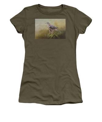 Female Goshawk Paintings Women's T-Shirt