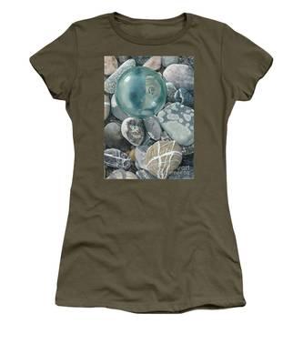 Glass Float And Beach Rocks Women's T-Shirt