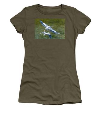 Great Blue Heron Pair Women's T-Shirt
