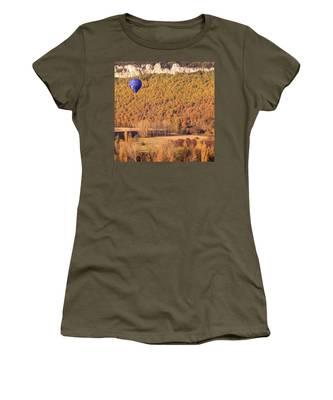 Hot Air Balloon, Beynac, France Women's T-Shirt