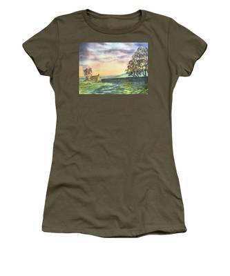 Long Shadows At Sunset Women's T-Shirt