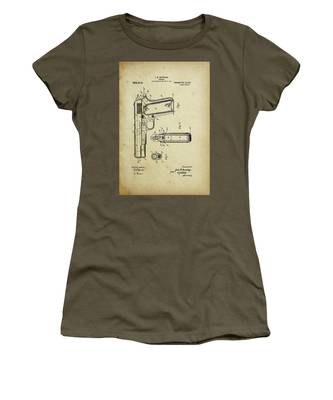 M1911 Browning Pistol Patent Women's T-Shirt