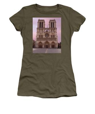 Notre Dame Cathedral Dawn Women's T-Shirt by Jemmy Archer