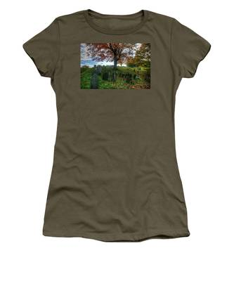 Old Hill Burying Ground In Autumn Women's T-Shirt