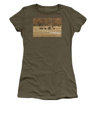 Rafter Of Wild Turkeys Women's T-Shirt