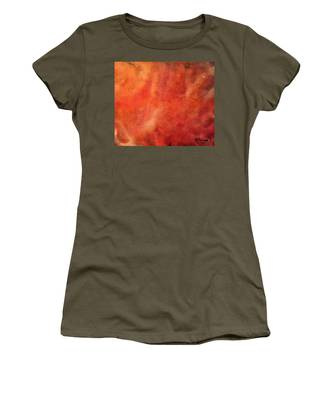 Tangerine Nebula Cloud Women's T-Shirt