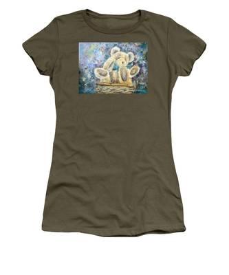 Teddy Bear In Basket Women's T-Shirt