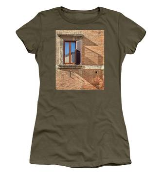 Window Shutter Shadow Of Tuscany Women's T-Shirt