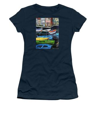Boats In Front Of The Buildings II Women's T-Shirt