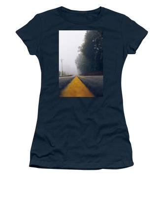 Fog On Highway Women's T-Shirt