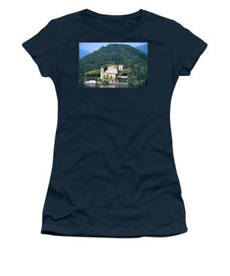 Palace At Lake Como Italy Women's T-Shirt
