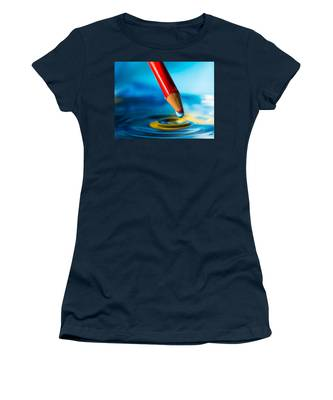 Pencil Water Drop Women's T-Shirt