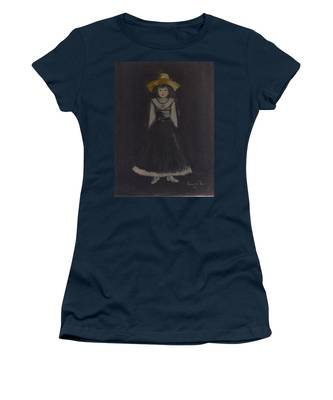Women's T-Shirt featuring the painting Just A Beautiful Country Girl... by Laurie Lundquist